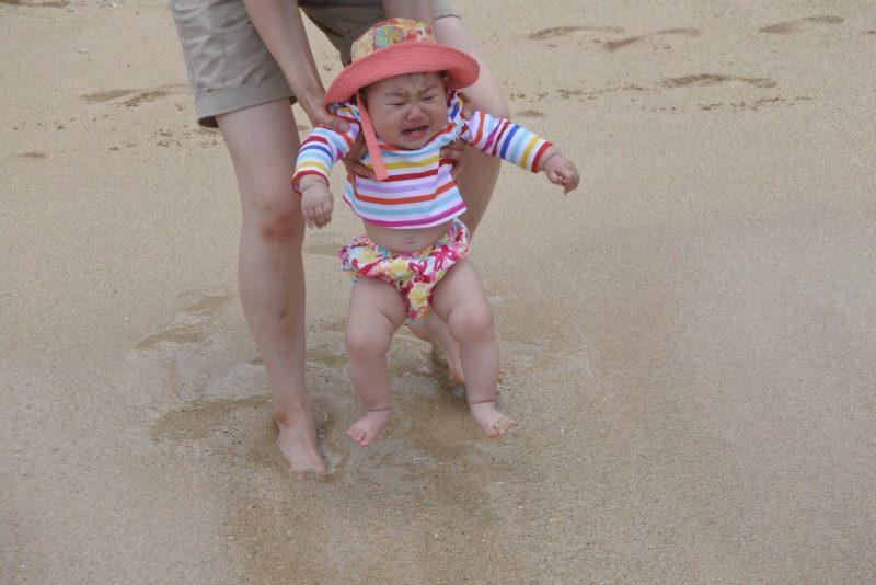 姪っ子初めての海水浴