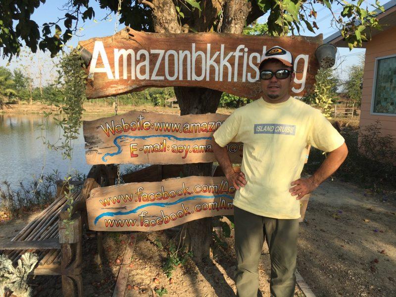 アマゾンBKKの写真と遠藤社長の2ショット