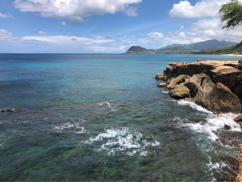 ハワイ西岸の小磯