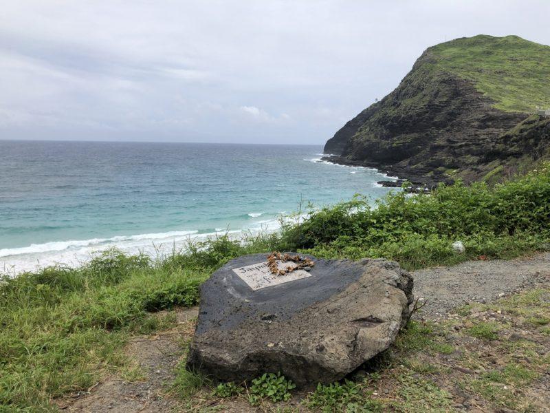 ハワイの磯の風景。お墓?